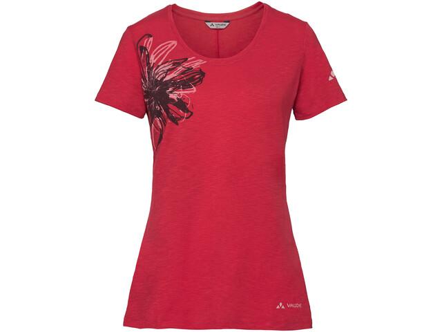 VAUDE Skomer Print II Shirt Women strawberry